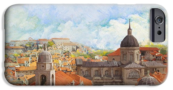 Corporate Art iPhone Cases - Old City of Dubrovnik iPhone Case by Catf