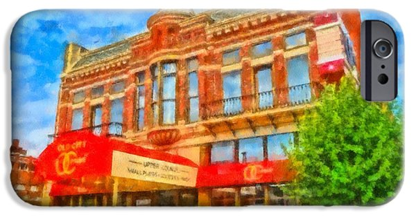 Waiter Mixed Media iPhone Cases - Old City Prime Restaurant Lima Ohio iPhone Case by Dan Sproul