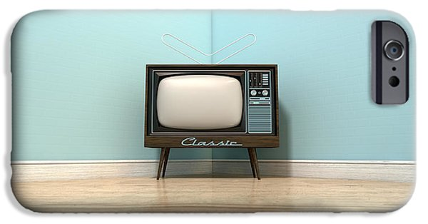 Electrical iPhone Cases - Old Classic Television In A Room iPhone Case by Allan Swart
