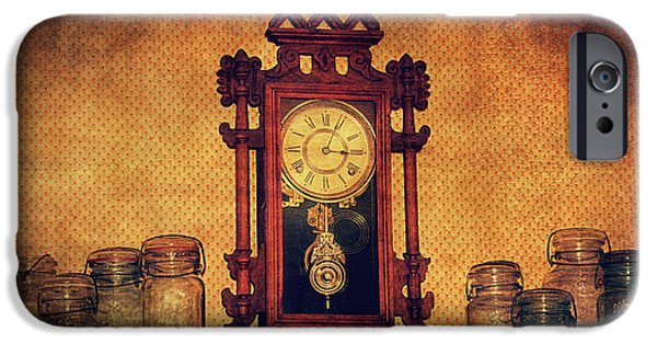 Interior Still Life Digital iPhone Cases - Old Clock iPhone Case by Maria Angelica Maira