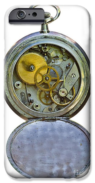 Mechanism iPhone Cases - Old Clock iPhone Case by Michal Boubin