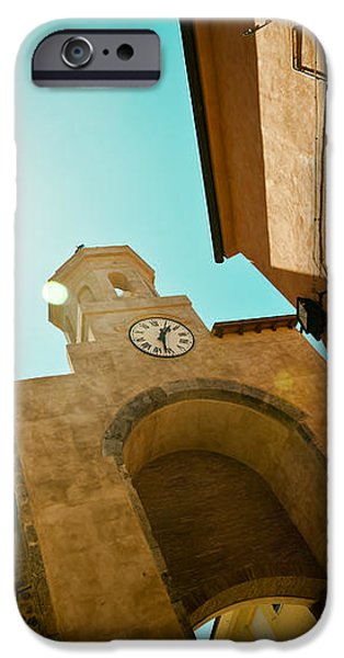 old clock on the tower and sun iPhone Case by Raimond Klavins