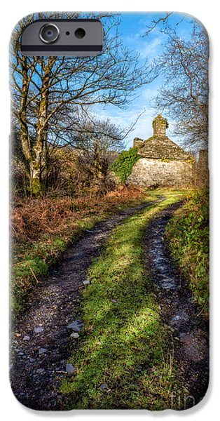 Ruins iPhone Cases - Old Cottage iPhone Case by Adrian Evans
