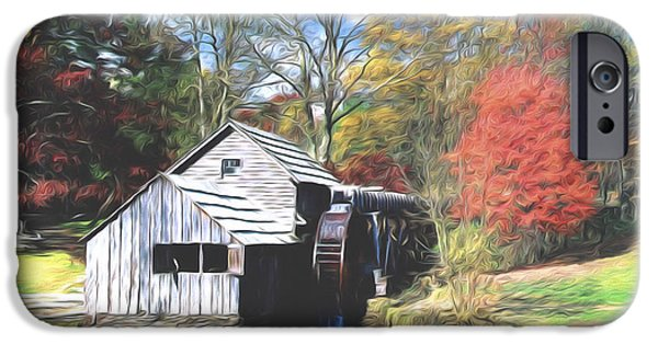 Grist Mill iPhone Cases - Old Country Mill iPhone Case by Steve Bailey