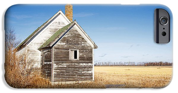 Rural Schools iPhone Cases - Old Country School Building iPhone Case by Donald  Erickson