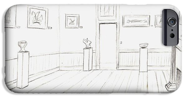 Concord Drawings iPhone Cases - Old Courthouse number four iPhone Case by Stacy C Bottoms