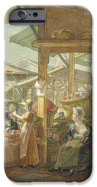 Old Covent Garden Market iPhone Case by George the Elder Scharf