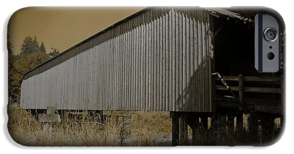 Covered Bridge Mixed Media iPhone Cases - Old Covered Bridge  iPhone Case by Beverly Guilliams