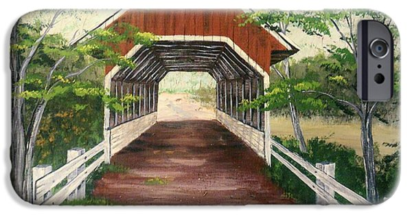Recently Sold -  - Covered Bridge iPhone Cases - Old covered bridge iPhone Case by K Alan Jarrett