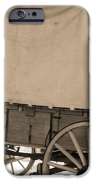 Old Covered Wagon Out West iPhone Case by Dan Sproul