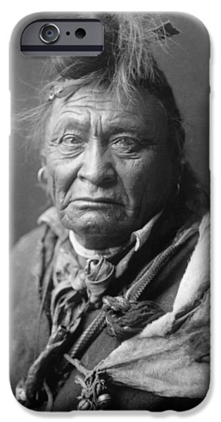 Portrait Of Old Man iPhone Cases - Old Crow Man circa 1908 iPhone Case by Aged Pixel