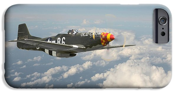 Classic Aircraft iPhone Cases - Old Crow iPhone Case by Pat Speirs
