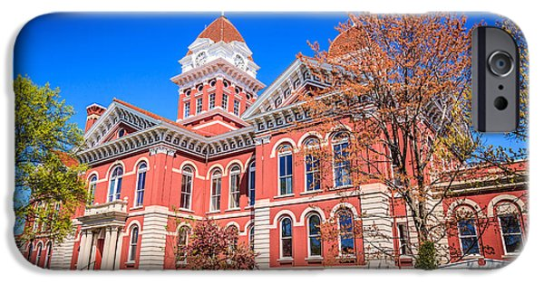 Indiana Springs iPhone Cases - Old Crown Point Courthouse iPhone Case by Paul Velgos