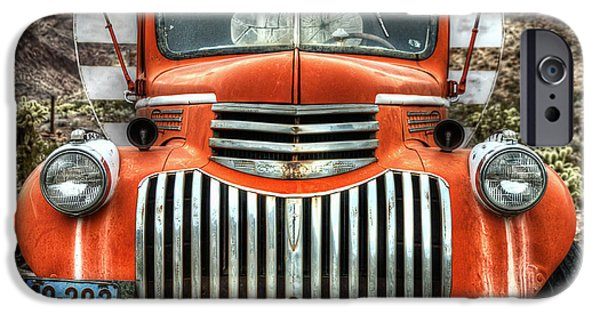 Delivery Truck iPhone Cases - Old Delivery Truck iPhone Case by Eddie Yerkish