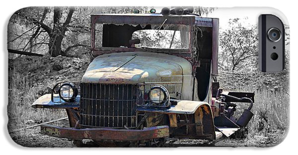 Tow Truck iPhone Cases - Old Dodge Tow Truck 1 iPhone Case by Cheryl Young