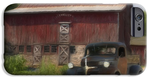 Painter Photographs iPhone Cases - Old Dodge Truck iPhone Case by Jack Zulli