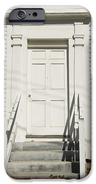 Entrance Door Photographs iPhone Cases - Old Door And Steps Close-up iPhone Case by Keith Webber Jr