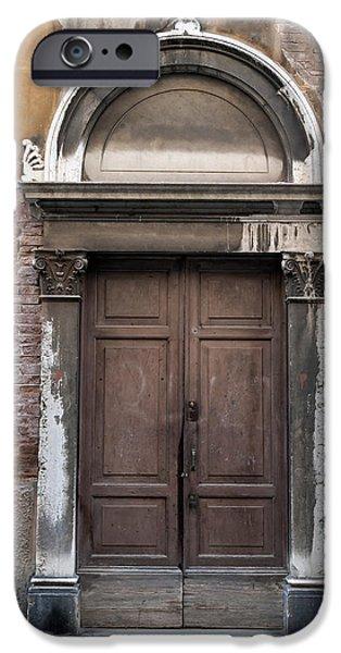 Venetian Doors iPhone Cases - Old door. iPhone Case by Fernando Barozza