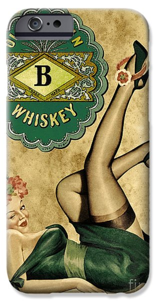 Pin-up iPhone Cases - Old Dublin Whiskey iPhone Case by Cinema Photography