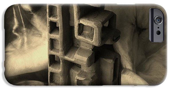 House Art Sculptures iPhone Cases - Old Dwellings iPhone Case by Barbara St Jean