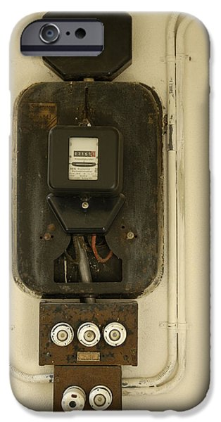 Fuse iPhone Cases - Old electricity meter iPhone Case by Matthias Hauser