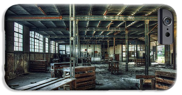 Creepy iPhone Cases - Old Factory Ruin iPhone Case by Carlos Caetano
