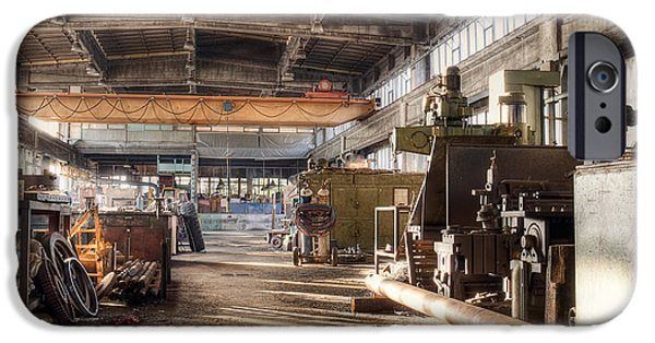 Industry iPhone Cases - Old factory iPhone Case by Sinisa Botas