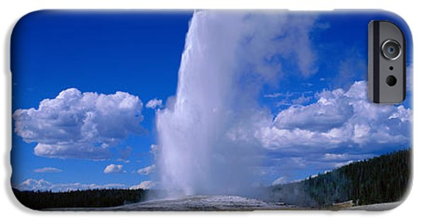 Yellowstone National Park iPhone Cases - Old Faithful, Yellowstone National iPhone Case by Panoramic Images