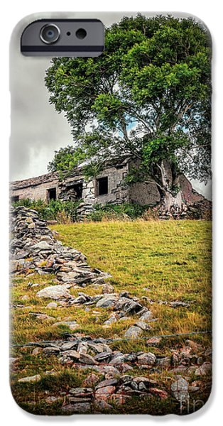 Ruins iPhone Cases - Old Farm House iPhone Case by Adrian Evans