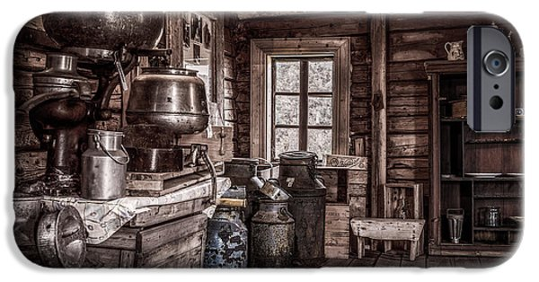 Industry iPhone Cases - Old Farm House iPhone Case by Erik Brede