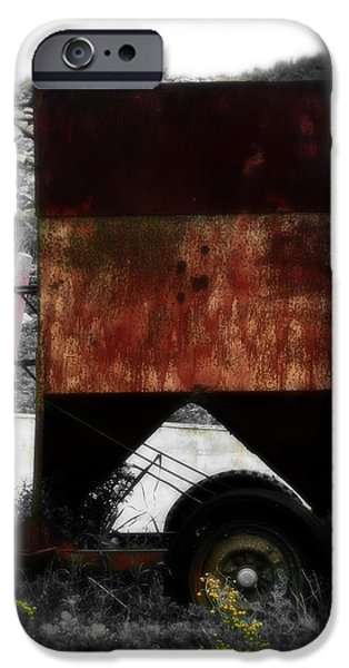 Machinery Mixed Media iPhone Cases - Old Farm Machinery - Series III iPhone Case by Michael Braham
