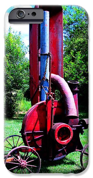 Old Farm Machinery iPhone Case by Tina M Wenger