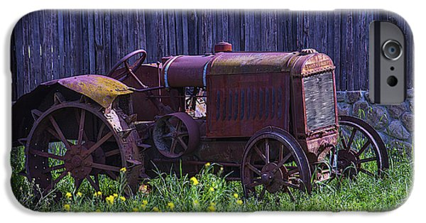 Implement iPhone Cases - Old Farm Tractor iPhone Case by Garry Gay