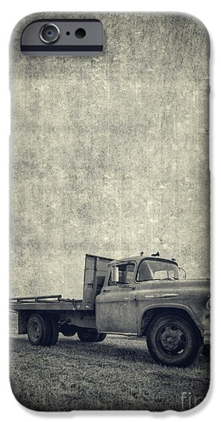 Agricultural iPhone Cases - Old Farm Truck Cover iPhone Case by Edward Fielding