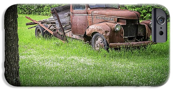 Quechee iPhone Cases - Old Farm Truck iPhone Case by Edward Fielding