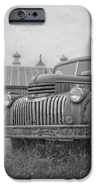 Retired iPhone Cases - Old farm truck out by the barn iPhone Case by Edward Fielding