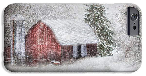 Christmas Holiday Scenery iPhone Cases - Old Fashioned Christmas iPhone Case by Lori Deiter