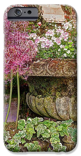Garden Scene Photographs iPhone Cases - Old Fashioned Planters iPhone Case by Gill Billington