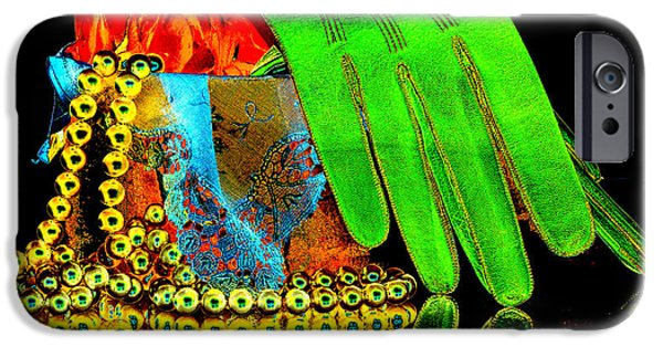 Old Digital Art iPhone Cases - Old Fashioned Still Life Pop Art iPhone Case by Phyllis Denton