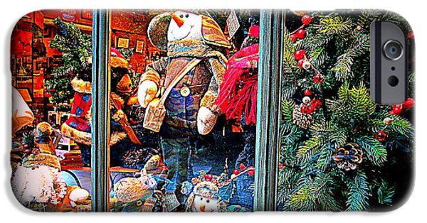 Toy Store iPhone Cases - Old Fashioned Store Window iPhone Case by Kay Novy