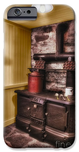 Old Fashioned iPhone Cases - Old Fashioned Stove iPhone Case by Susan Candelario