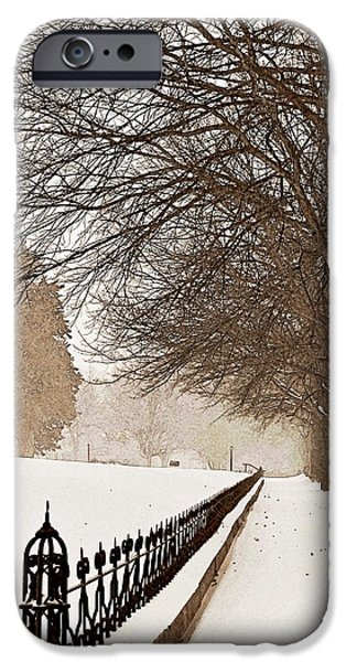 Drifting Snow Photographs iPhone Cases - Old Fashioned Winter iPhone Case by Chris Berry