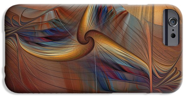 Fashion Abstract Art iPhone Cases - Old-Fashionened Swing Boat In The Afterglow iPhone Case by Karin Kuhlmann