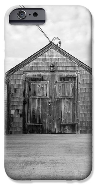 Nantucket iPhone Cases - Old Fishing Shack Little Boars Head Rye NH iPhone Case by Edward Fielding