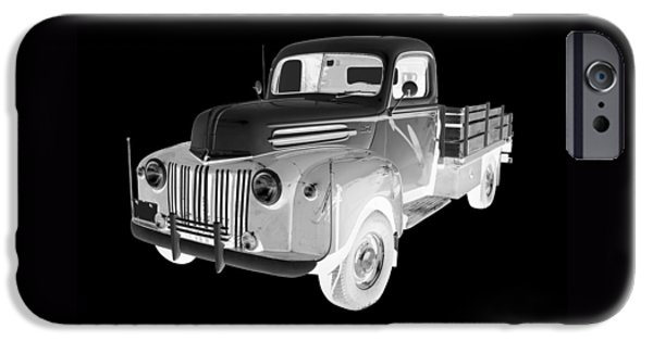 Antiques iPhone Cases - Old Flat Bed Ford Work Truck Car Art iPhone Case by Keith Webber Jr