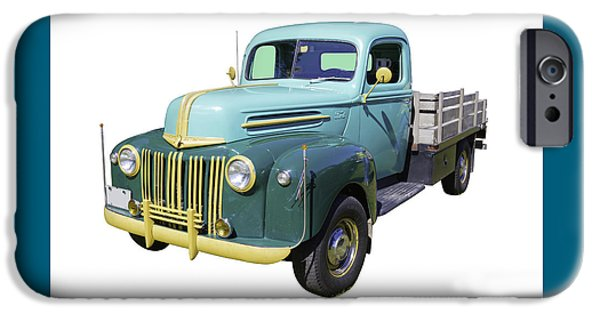 Ford Truck iPhone Cases - Old Flat Bed Ford Work Truck iPhone Case by Keith Webber Jr