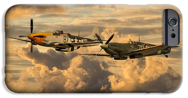 Ferocious Frankie iPhone Cases - Old Flying Machines  iPhone Case by J Biggadike