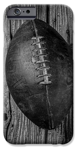 Memories iPhone Cases - Old Football iPhone Case by Garry Gay