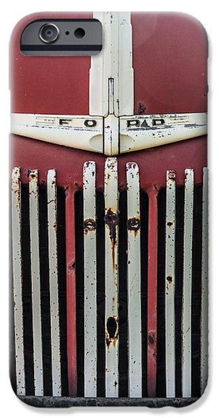Old Trucks Photographs iPhone Cases - Old Ford Truck iPhone Case by Dale Kincaid