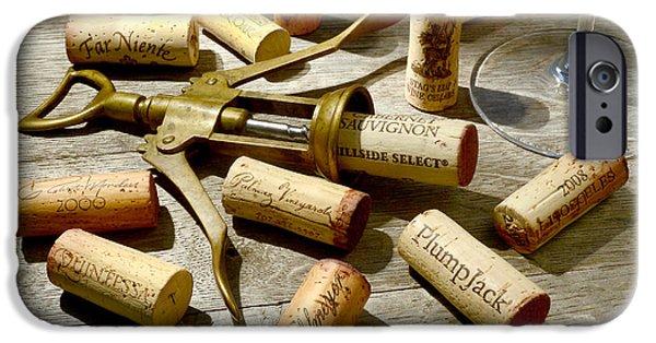Wine Bottles iPhone Cases - Old Friends iPhone Case by Jon Neidert